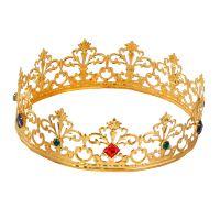 Kroon goud met stenen voor een echte prins of prinses van het bal