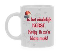 Kerst koffiemok fout klote cadeau eindelijk kerst grappig