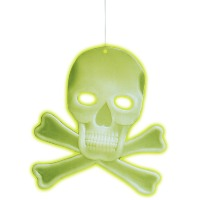 Glow in the dark schedel en botten 3D Halloween