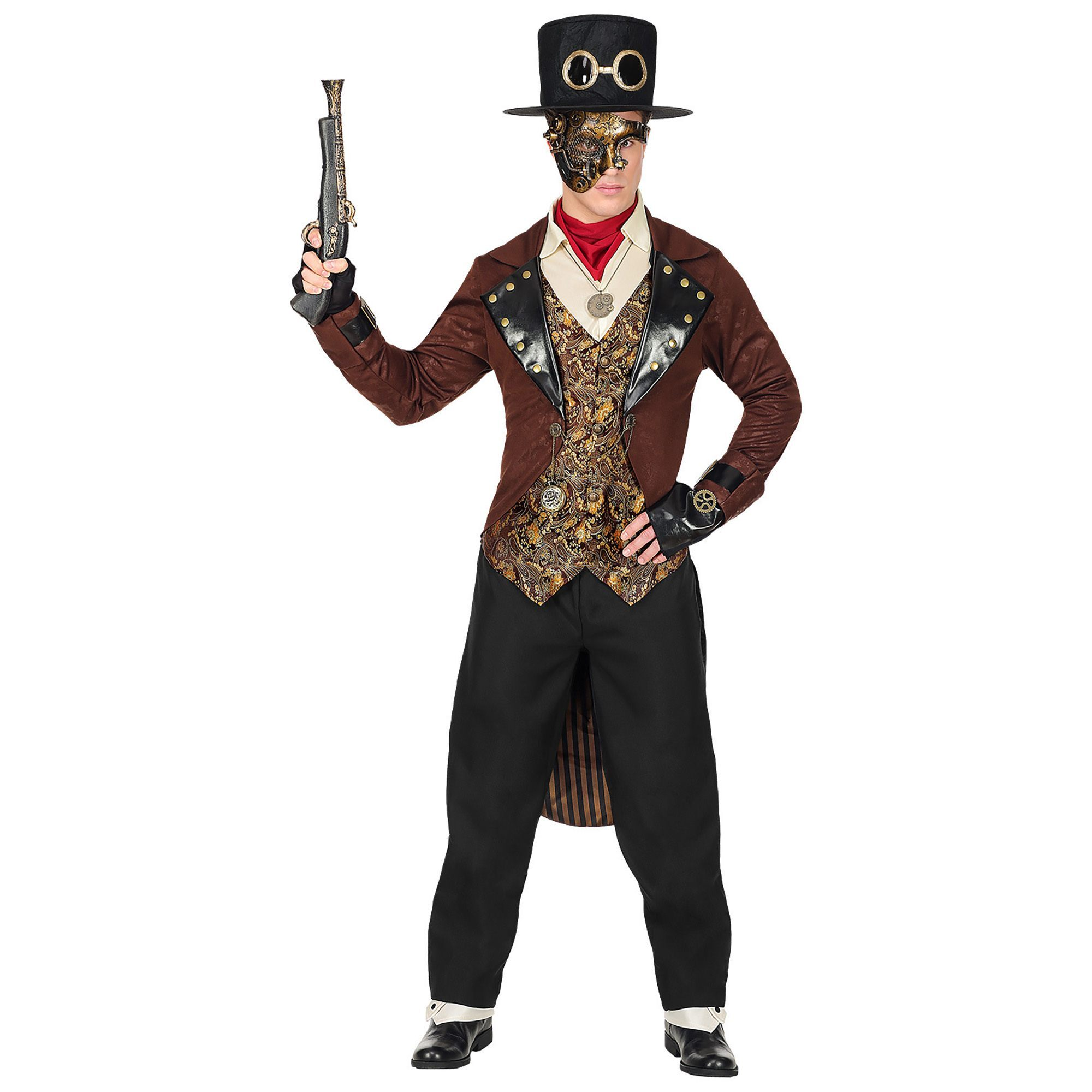 Slipjas Bruin steampunk man outfit