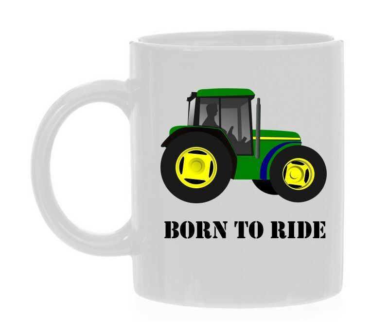 born to ride koffiemok boer tractor