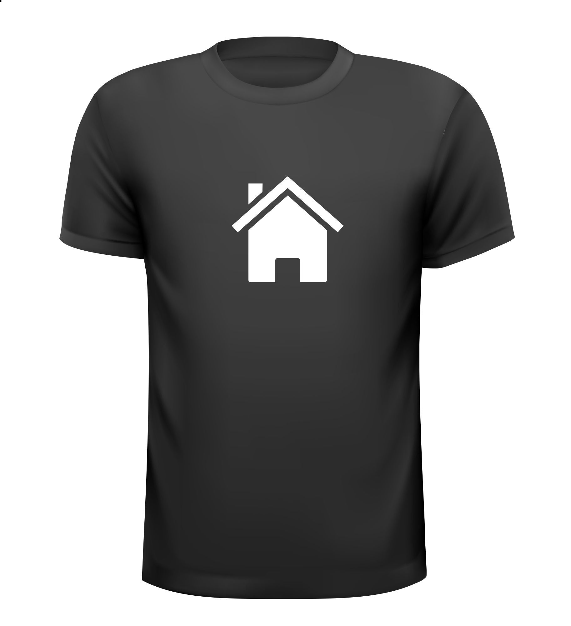 Huis icon woning icon t-shirt home