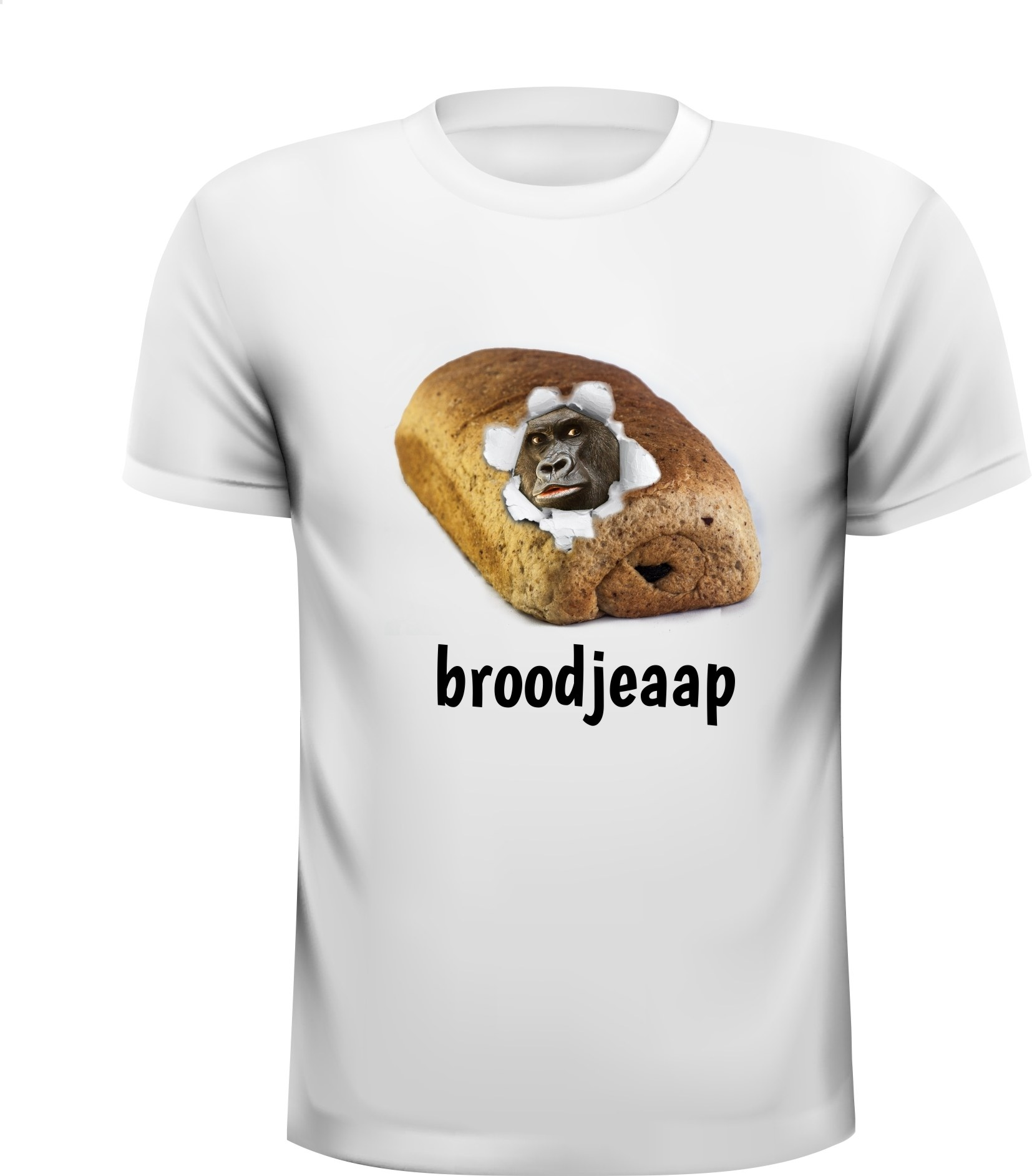 T-shirt broodjeaap broodjeaapverhaal grappig apen aap lachen