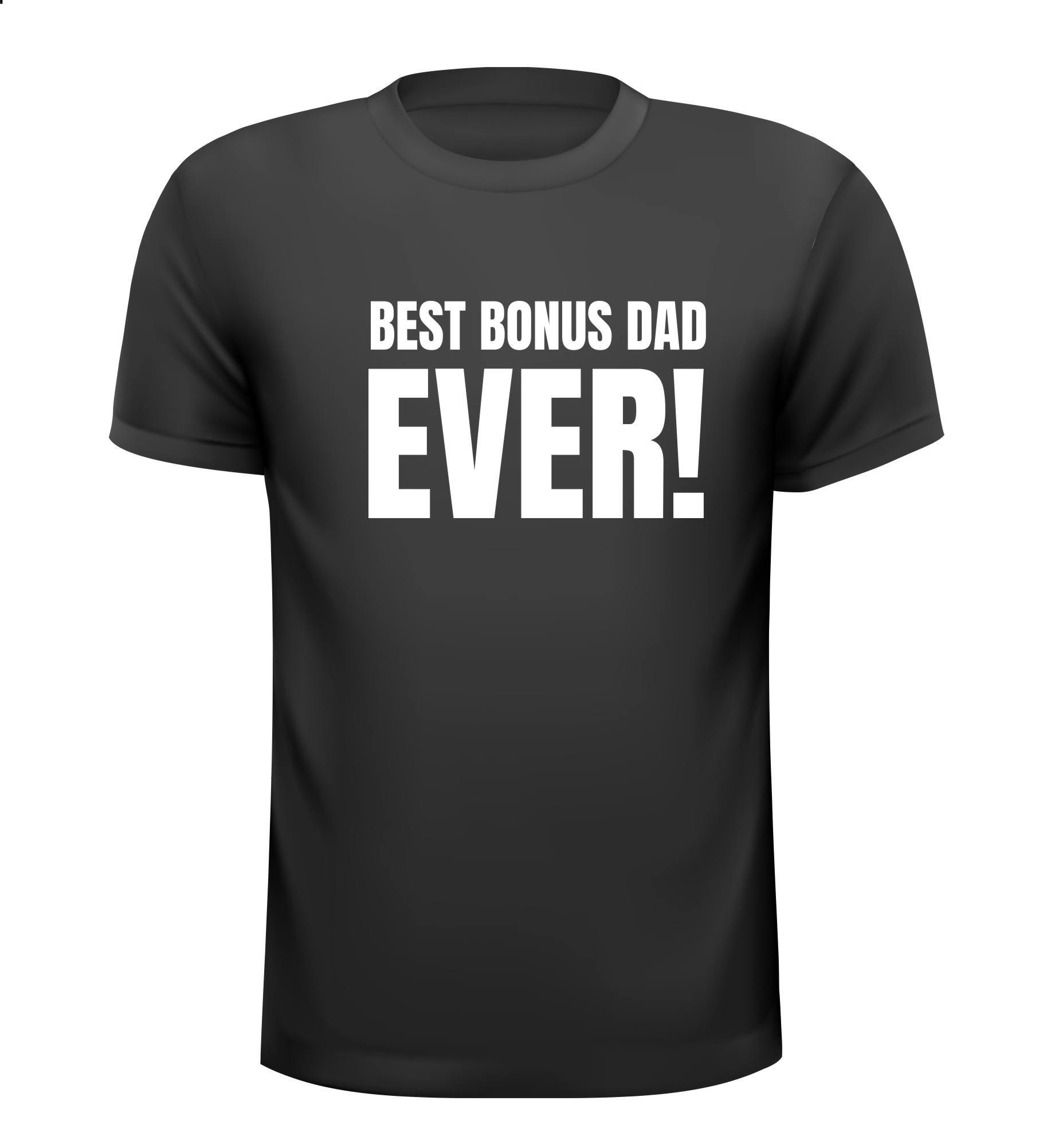 T-shirt best bonus dad ever Vaderdag cadeau