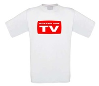 bekend van tv t-shirt