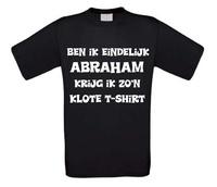 Ben ik eindelijk abraham krijg ik zo klote shirt