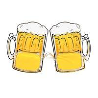 Bier bril met bierglazen volwassen voor oktoberfest