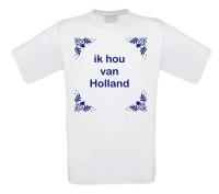 Ik hou van Holland T-shirt delfsblauw