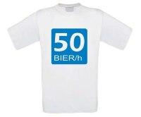 T-shirt 50 bier in een uur verkeersbord