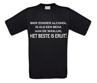 T-shirt bier zonder alcohol is als een beha aan de waslijn, het beste is eruit!