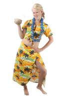 Hawaii set dames rok inclusief top